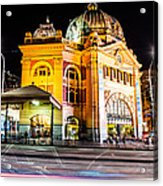 Melbourne At Night Acrylic Print
