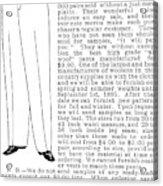 Men's Fashion, 1895 Acrylic Print