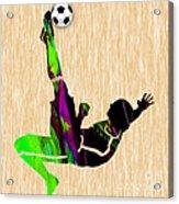 Womans Soccer Acrylic Print