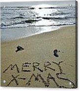 Merry Christmas Sand Art 5 12/25 Acrylic Print