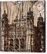 Metal England Castle Acrylic Print