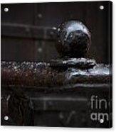 Metal Fence Fragment Acrylic Print