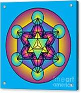 Metatron's Cube With Merkaba Acrylic Print