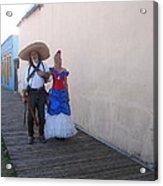 Mexican Revolutionary Re-enactor With His  Lady Helldorado Days Tombstone Arizona 2004 Acrylic Print