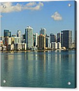 Miami Brickell Skyline Acrylic Print