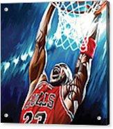 Michael Jordan Artwork Acrylic Print by Sheraz A