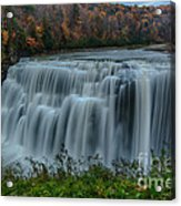 Middle Falls At Letchworth State Park Acrylic Print