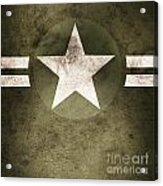 Military Army Star Background Acrylic Print