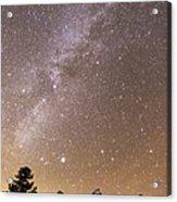 Milky Way Galaxy Over Teton Mountains Acrylic Print