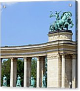 Millennium Monument In Budapest Acrylic Print
