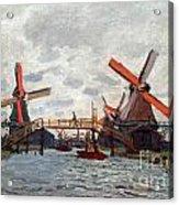 Mills At Westzijderveld Near Zaandam Acrylic Print