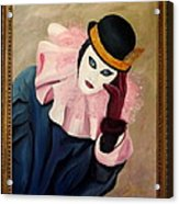 Mime With Thoughts Acrylic Print