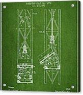 Mine Elevator Patent From 1892 - Green Acrylic Print