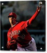 Minnesota Twins V Los Angeles Angels Of Acrylic Print