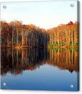 Mirror Lake Panoramic Acrylic Print