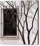 Mission Church Window Acrylic Print