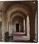 Missions Of  San Antonio Acrylic Print by Cindy Rubin