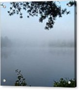 Misty Morning On The Lake Acrylic Print