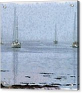 Misty Sails Upon The Water Acrylic Print