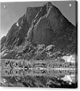 109644-bw-mitchell Peak, Wind Rivers Acrylic Print