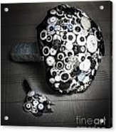 Modern Button Design Wedding Bouquet Acrylic Print