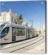 Modern Tram In Central Jerusalem Israel Acrylic Print