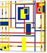 Mondrian Color Teraphy Acrylic Print
