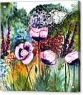 Monet's Garden Acrylic Print