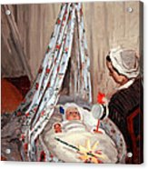Monet's The Cradle -- Camille With Artist's Son Jean Acrylic Print