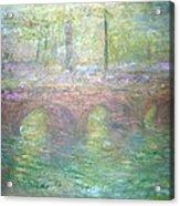 Monet's Waterloo Bridge In London At Dusk Acrylic Print