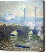 Monet's Waterloo Bridge On A Gray Day Acrylic Print