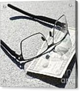 Money And Eyeglasses Acrylic Print