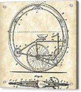 Monocycle Patent 1894 - Vintage Acrylic Print