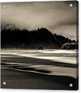 Moody Oregon Beach Acrylic Print
