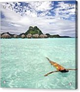 Moorea Woman Floating Acrylic Print
