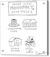 More New Monopoly Game Pieces Acrylic Print