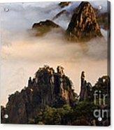 Morning Fog China Mountains  Acrylic Print