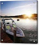 Morning Sun On The Lake Acrylic Print