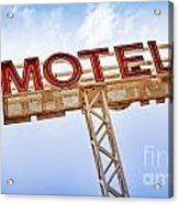 Motel Sign Acrylic Print