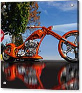 Motorcycle Reflections Acrylic Print