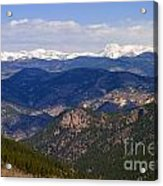 Mount Evans And Continental Divide Acrylic Print