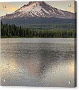 Mount Hood At Trillium Lake Sunset Acrylic Print