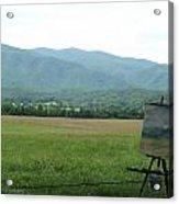 Mountain Range Painting Acrylic Print