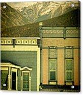 Mountain Town Acrylic Print