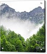 Mountain With Clouds Acrylic Print