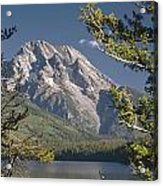 Mt. Moran And Jenny Lake Acrylic Print