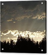 Mt Sunset Acrylic Print by Yvette Pichette