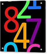 Multi-color Numbers Acrylic Print