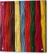 Multicolored Embroidery Thread In Rows Acrylic Print