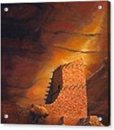 Mummy Cave Ruins Acrylic Print